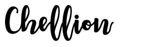 Chellion шрифт