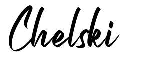 Chelski font