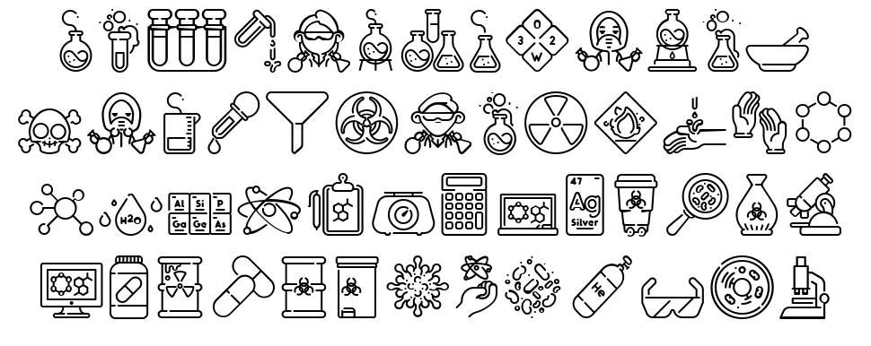 Chemistry Icon font