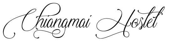 Chiangmai Hostel schriftart