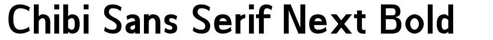 Chibi Sans Serif Next Bold