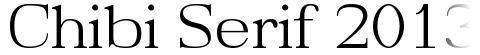Chibi Serif 2013