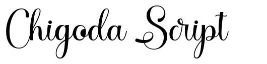 Chigoda Script font