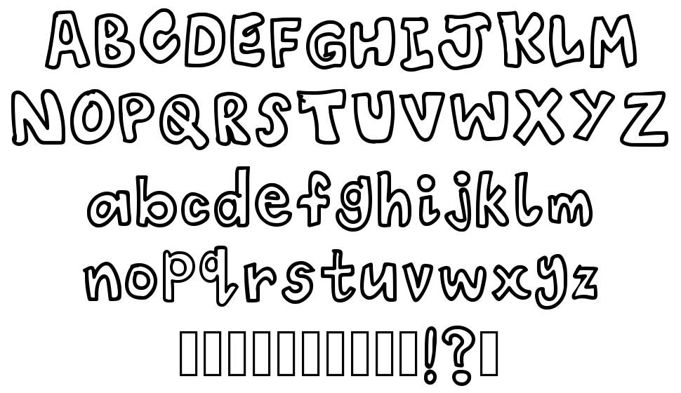 Child Scribble font