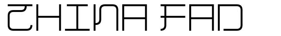 China Fad font