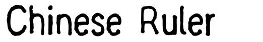 Chinese Ruler font