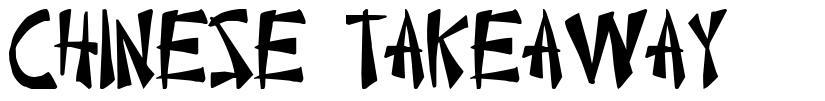 Chinese Takeaway font