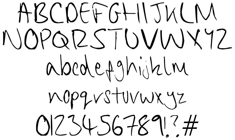 Chippy Handwriting font