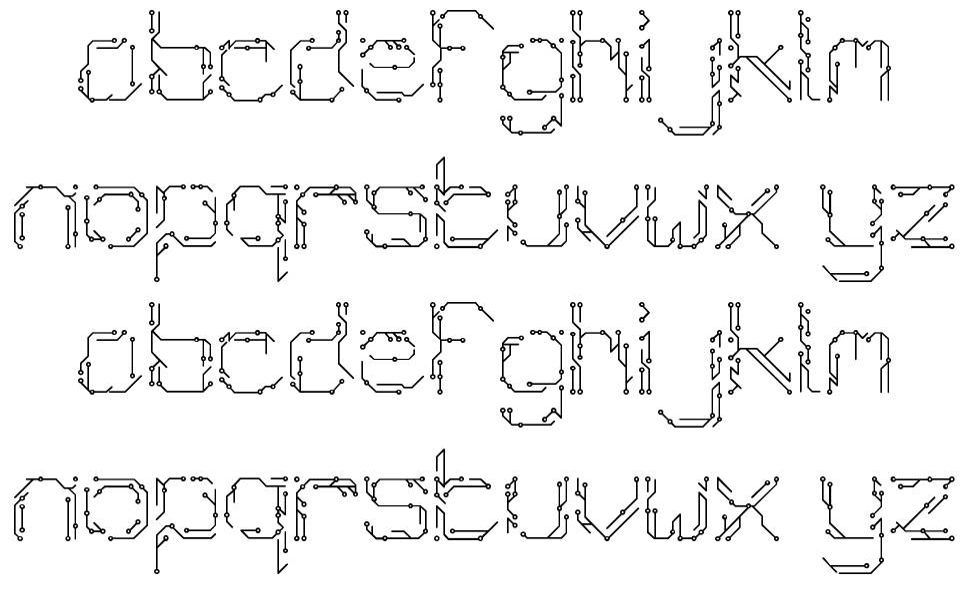 Chiptype font