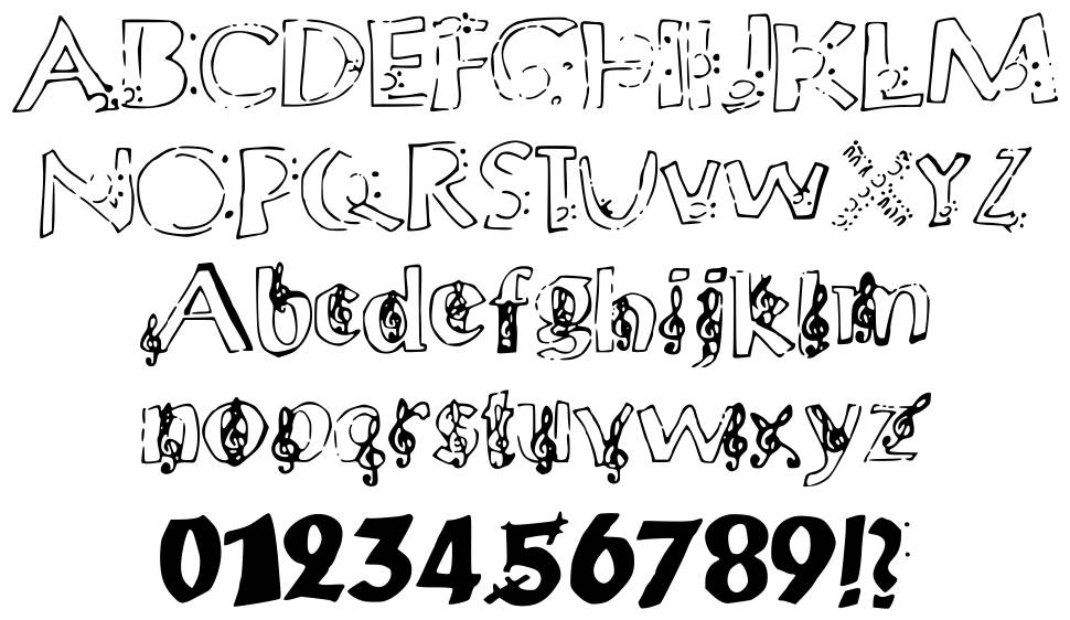 Chloes Music font