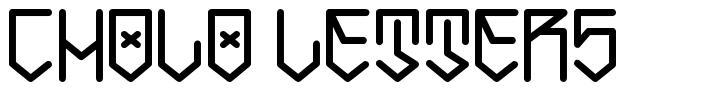 Cholo Letters font