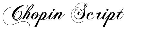 Chopin Script police
