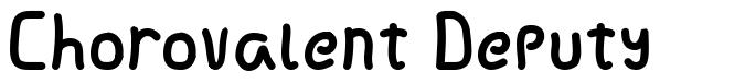 Chorovalent Deputy шрифт