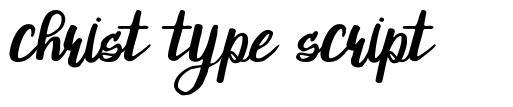 Christ Type Script