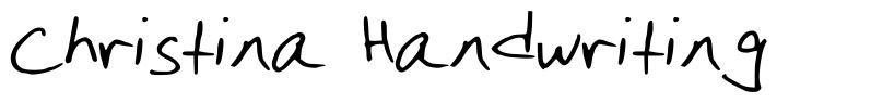 Christina Handwriting font