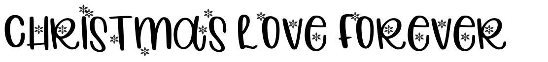 Christmas Love Forever schriftart