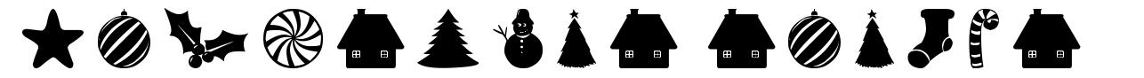 Christmas Shapes font