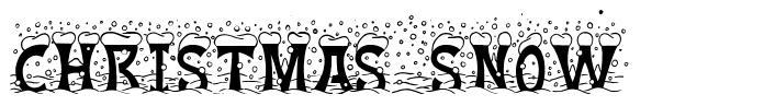 Christmas Snow font