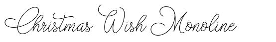 Christmas Wish Monoline font