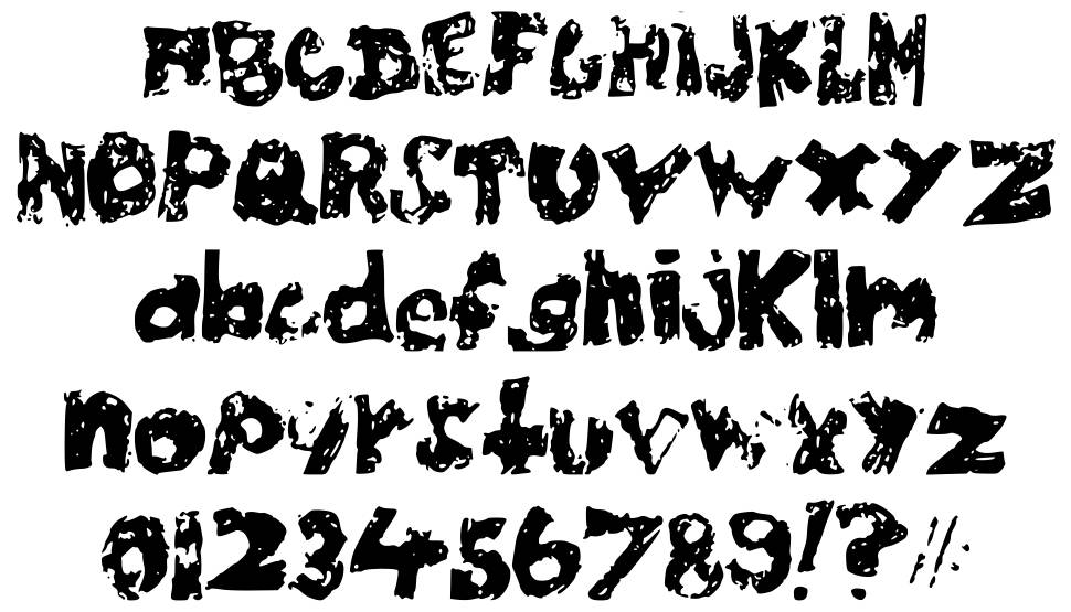 Chubby Poof font