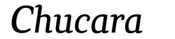 Chucara font
