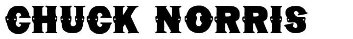 Chuck Norris font
