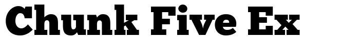 Chunk Five Ex font