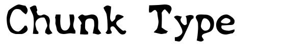 Chunk Type font