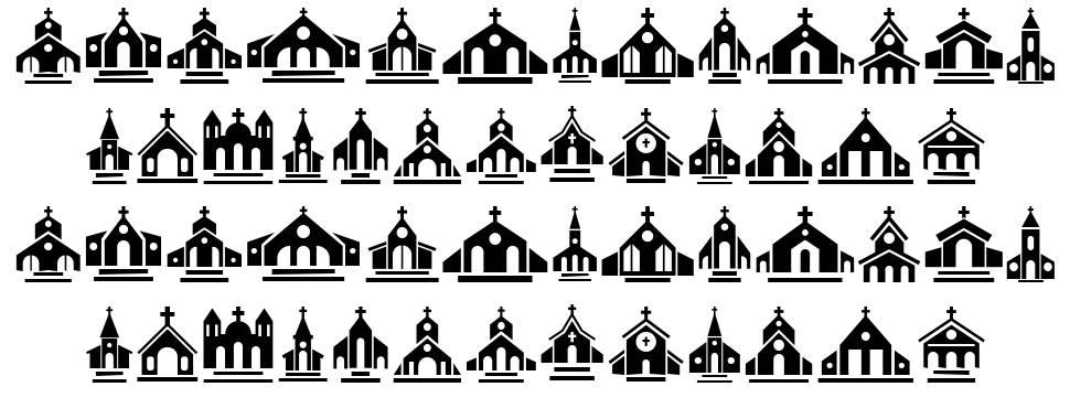Churches 字形