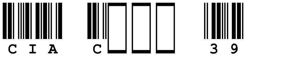 CIA Code 39 font