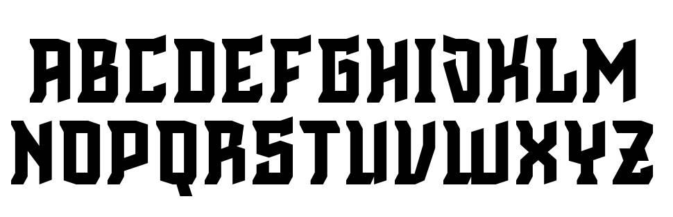Cinematic English font