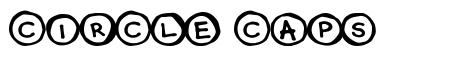 Circle Caps font