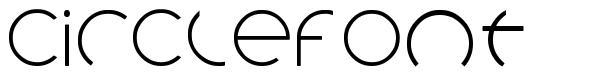Circlefont font