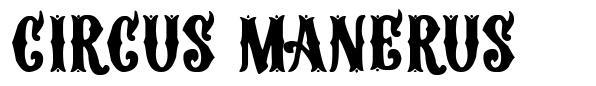 Circus Manerus шрифт
