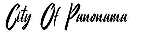 City Of Panonama font
