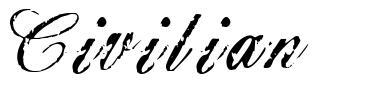 Civilian 字形