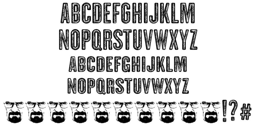 Clandestina 字形