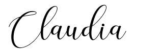 Claudia шрифт
