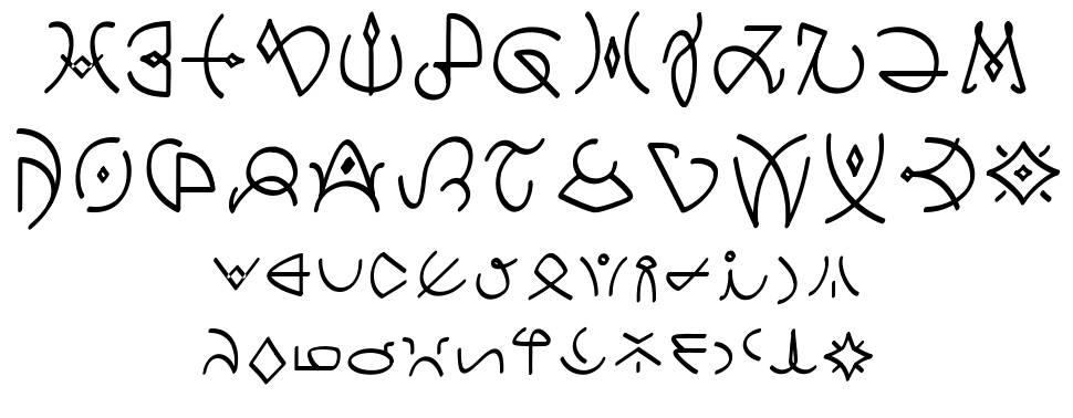 Clavat Script font