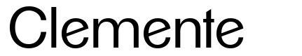 Clemente font
