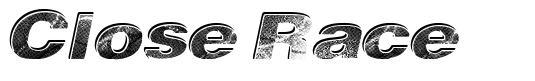 Close Race font