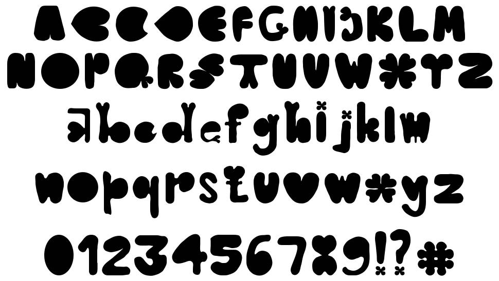 Clover Typeface police
