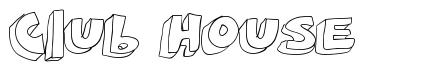 Club House font