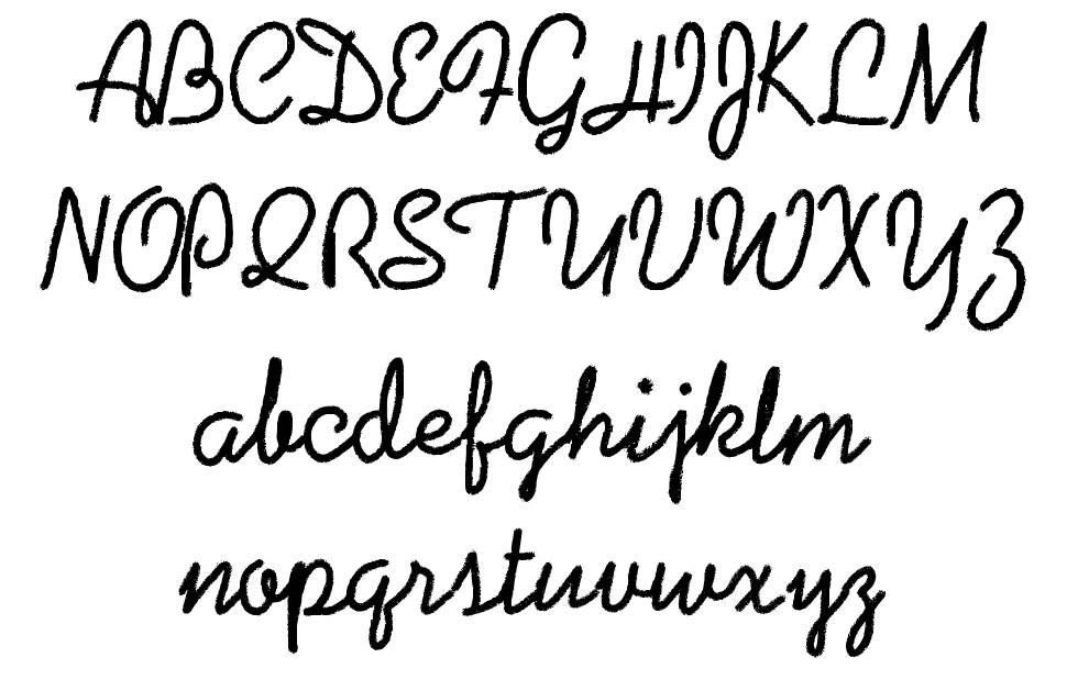 Coalpen шрифт