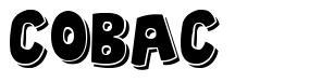 Cobac font