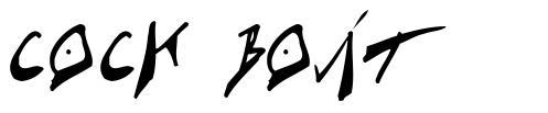 Cock Boat font