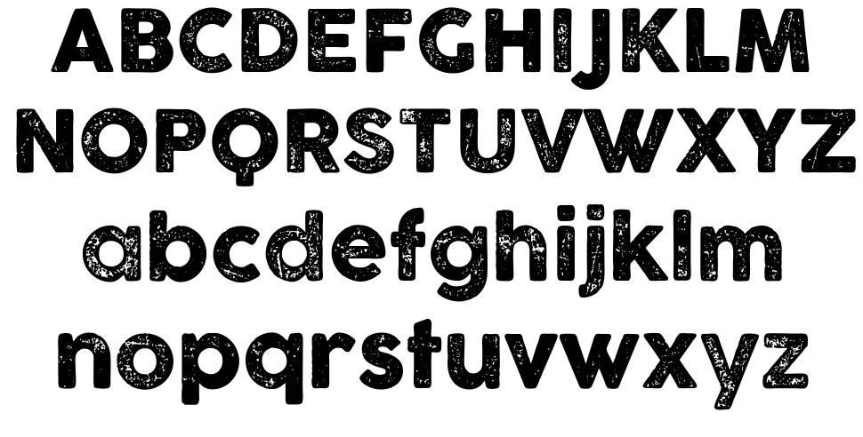 Cocogoose Letterpress font