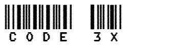 Code 3X 字形