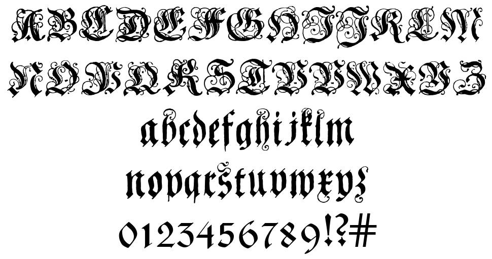 Coelnische Current Fraktur 字形
