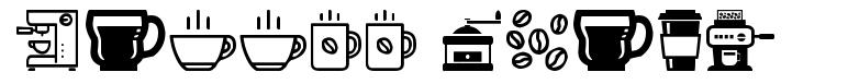 Coffee Icons 字形